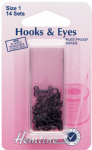 H401.1 Hooks and Eyes: Black - Size 1